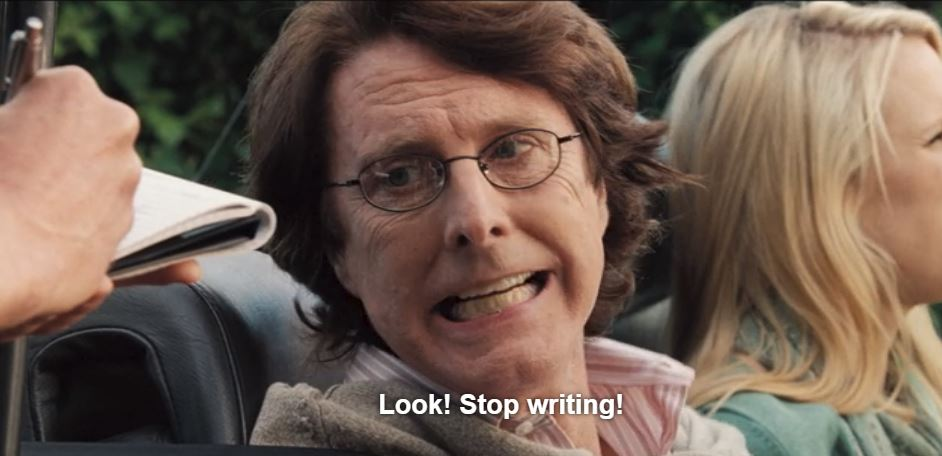 stop writing hot fuzz copywriter
